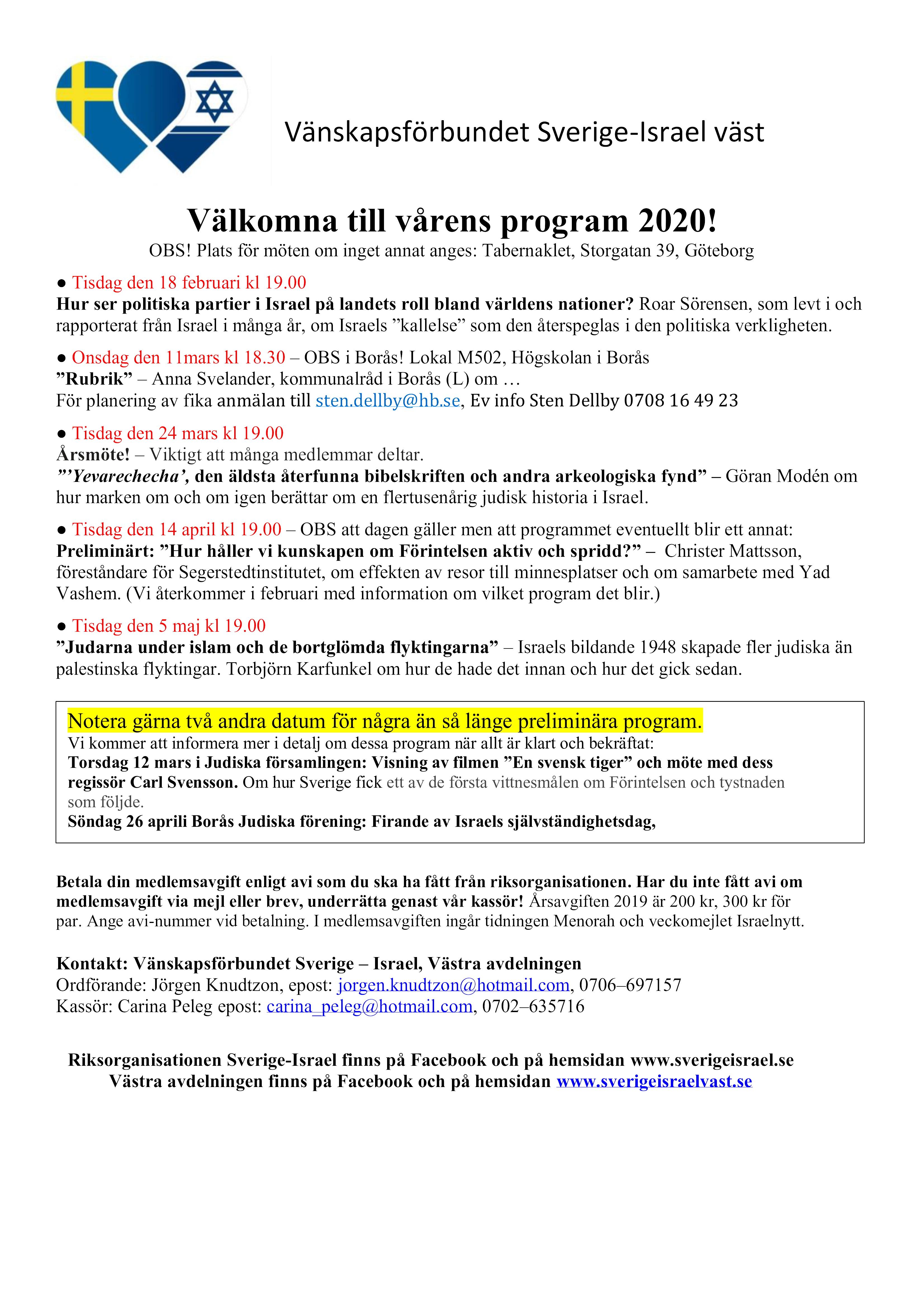 Inbjudan våren 2020